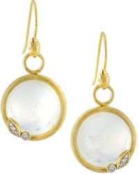 Jude Frances 18K Sonoma Round Drop Earrings K6xNG