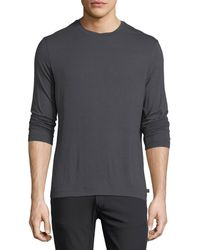 Armani - Brushed Striped Long-sleeve T-shirt - Lyst