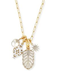 Lulu Frost - Crystal Charm Link Necklace - Lyst