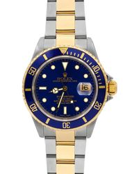 Rolex - Pre-owned 40mm Submariner Two-tone Bracelet Watch - Lyst