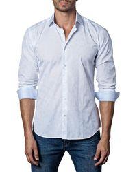 Jared Lang - Men's Semi-fitted Polka-dot Jacquard Sport Shirt - Lyst