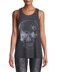Terez - Rhinestone-skull Back Muscle Tee - Lyst