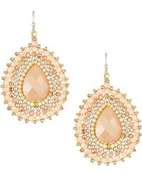 Nakamol - Layered Crystal Pear Drop Earrings - Lyst