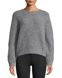 Vince - Saddle Wool-blend Cropped Sweater - Lyst