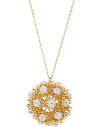 Lele Sadoughi - Dandelion Crystal Fireball Long Pendant Necklace - Lyst
