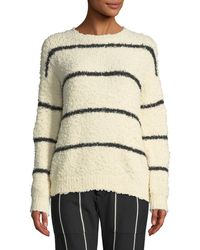 Brunello Cucinelli - Shubby Striped Soft Sweater - Lyst