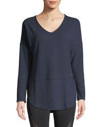 Balance Collection - Leigh V-neck Long-sleeve Tee - Lyst