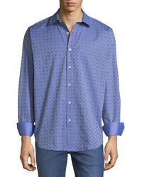 Bugatchi - Classic-fit Dotted Sport Shirt - Lyst