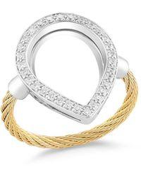 Alor - Open Diamond Pavé Teardrop Ring - Lyst