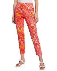 Trina Turk Moss 2 Floral-print Cropped Pants