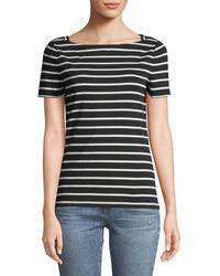Kate Spade - Broome Street Short-sleeve Striped Tee - Lyst