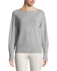 Vince - Lightweight Boat-neck Pullover Sweater - Lyst