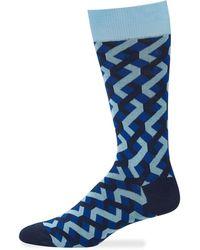 Jared Lang - Men's Zigzag Cotton Socks - Lyst