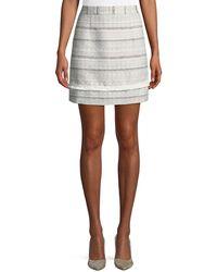 Laundry by Shelli Segal - Striped Tweed Mini Skirt - Lyst