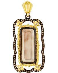 Armenta | Old World Smoky Quartz Doublet Enhancer W/ Champagne Diamonds | Lyst