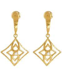 Gurhan - 22k Pointelle Diamond Drop Earrings - Lyst
