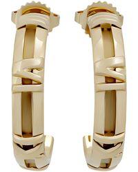 Tiffany & Co. - Estate 18k Gold Atlas Hoop Earrings - Lyst