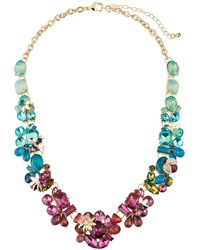 Fragments - Multicolor Flower Statement Necklace - Lyst