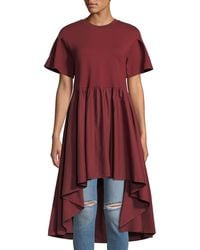 English Factory - Short-sleeve Dramatic High-low Top - Lyst