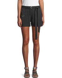 Laundry by Shelli Segal - Grommet-trim Tie Waist Shorts - Lyst