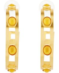 Stephanie Kantis | Monaco Citrine Hoop Earrings | Lyst