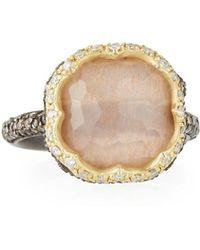 Armenta - Old World Triplet Quartz & Mixed Diamond Ring - Lyst