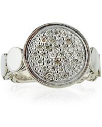 John Hardy | Dot Silver Large Pave Diamond Ring | Lyst