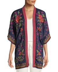 Neiman Marcus - Embroidered Open Front Cardigan - Lyst