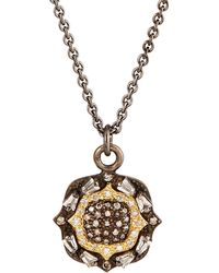 Armenta - Old World 18k Sapphire & Diamond Cushion Pendant Necklace - Lyst