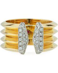 Roberto Coin - 18k Oro Split Diamond Ring - Lyst