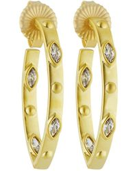 Freida Rothman - Amazonian Allure Pointed Hoop Earrings - Lyst