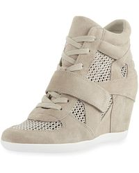 c926254f997f Lyst - G by Guess G By Guess Shoes Raurie Glitter Wedge Sneakers in ...