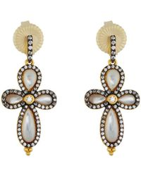 Freida Rothman | Pave Crystal Clover Drop Earrings | Lyst