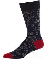 Bugatchi - Men's Midnight Jacquard Socks - Lyst
