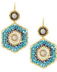 Nakamol - Beaded Hexagon Drop Earrings - Lyst