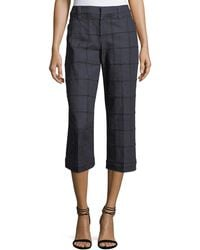 Brunello Cucinelli | Needle-punched Cropped Pants | Lyst