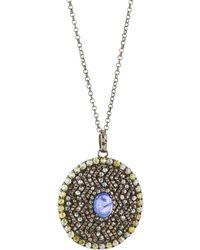 Bavna   Pavé Diamond & Purple Tanzanite Pendant Necklace   Lyst