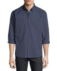 Neiman Marcus - Regular-fit Regular Finish Jaspe Glen-check Sport Shirt - Lyst