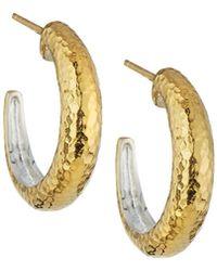 Gurhan - Hoopla Small Tapered Hoop Earrings - Lyst