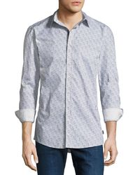 English Laundry - Abstract Dot-line Sport Shirt - Lyst