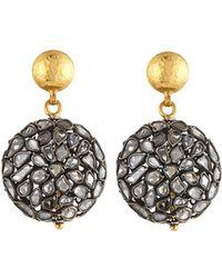 Gurhan - Celestial Pastiche Two-tone Diamond Slice Drop Earrings - Lyst