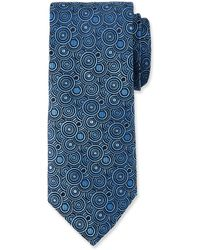 Duchamp - Circle Pattern Silk Tie - Lyst