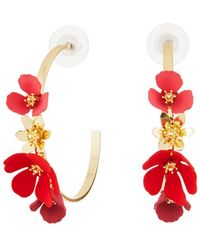 Fragments - Flower Hoop Earrings - Lyst