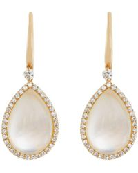 Roberto Coin - 18k Rose Gold Diamond & Crystal Doublet Teardrop Earrings - Lyst