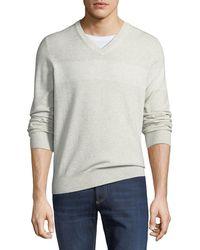 Brunello Cucinelli - Men's Cashmere Antibes Striped Sweater - Lyst