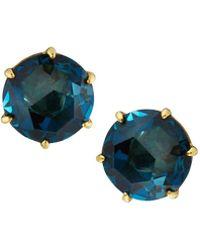 Ippolita - 18k Rock Candy Medium Round Stud Earrings In London Blue Topaz - Lyst
