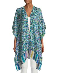 Raj - Floral-print Silk Kimono - Lyst