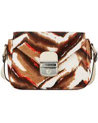Longchamp - Le Pliage Héritage Luxe Small Calf-hair Crossbody Bag - Lyst