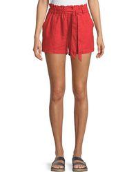 Sanctuary - Linen Tie-waist Paperbag Shorts - Lyst