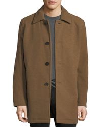 Cole Haan Long Car Coat Beige - Natural